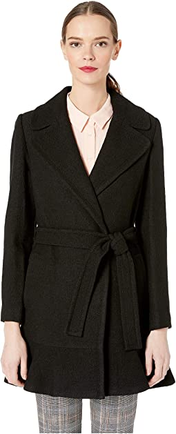 Belted Wool Twill Coat