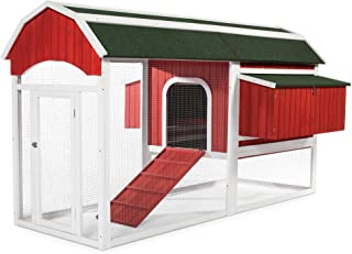 Prevue Pet Products 467 Large Barn Chicken Coop, Red