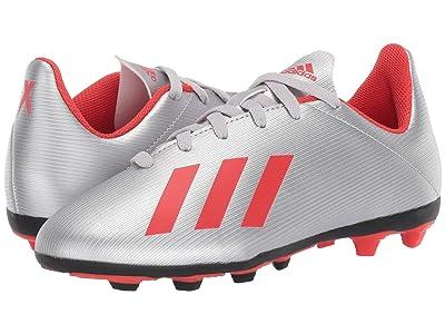 adidas Kids X 19.4 FXG Soccer (Little Kid/Big Kid) (Silver/Hi-Res Red/White) Kid