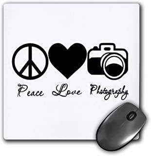 3dRose LLC 8 x 8 x 0.25 Inches Peace Love Photography, Photographer, Mouse Pad (Mp_157423_1)