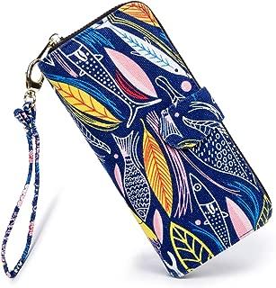 Women wallet Purse Credit Card Clutch Zip Around Phone Clutch Large Travel Purse Wristlet Bohemian