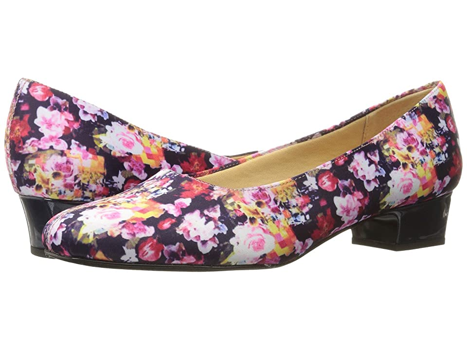 Trotters Doris (Wash Floral) Womens 1-2 inch heel Shoes
