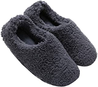 mianshe Mens and Women's Cozy Bootie Slippers with Memory Foam for Indoor/Outdoor
