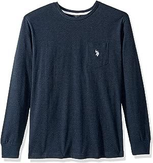 Men's Long Sleeve Crew Neck Pocket T-Shirt