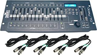 Chauvet DJ OBEY70 Obey 70 Lighting & Fog DMX-512 Controller and 10' & 25' Cables