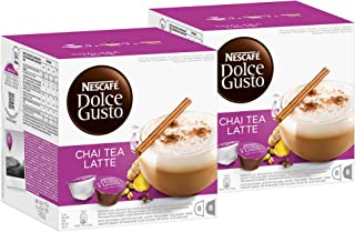 Nescafé Dolce Gusto Chai Tea Latte, 2 Pakken, 2 x 16 Capsules (16 kopjes)