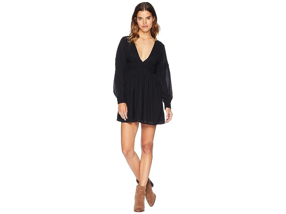Free People Sugarpie Mini Dress (Black) Women