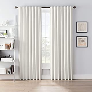 "SmartBlock Chroma Rod Pocket Blackout Curtain Panel, Ivory, 63"" L x 50"" W (Single Panel)"