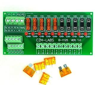 Electronics-Salon Panel Mount 10 Position Power Distribution Fuse Module Board, For AC/DC 5~32V .