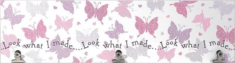 Malden International Designs Pastel Butterflies Wall Artwork With 3 Clips 3 Option 6x22 Multicolor