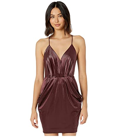 BCBGeneration Drape Pocket Cami Dress THV6242162 (Mahogany) Women
