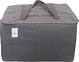 Kuber Industries Rexine Jumbo Underbed Moisture Proof Storage Bag with Zipper Closure and Handle (Grey) -CTKTC6596