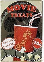 Pôster em metal retrô com placa de decoração de casa divertida vintage do filme ERLOOD 20,3 x 30,48 cm
