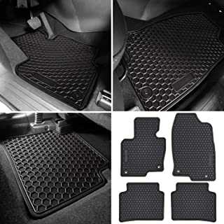 E-cowlboy Floor Mat Liner for Mazda CX-5 2017~2020 Heavy Duty Rubber Front+Rear Car Carpet Waterproof Custom Fit - All Seasons Odorless (Black 4PCS)