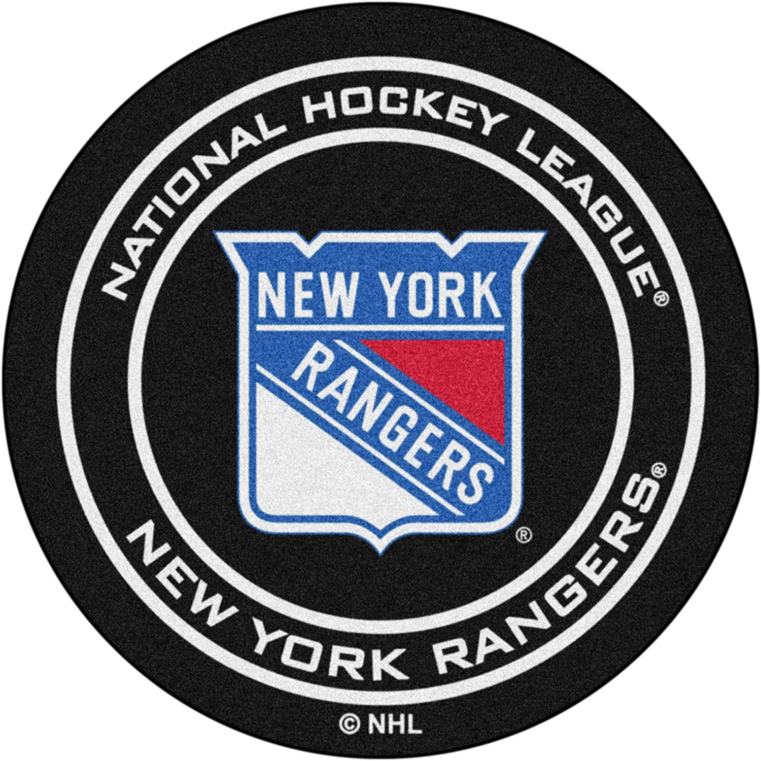 FANMATS Surprise price - 10472 NHL New York Face Rangers Rug Hockey Puck Nylon New mail order