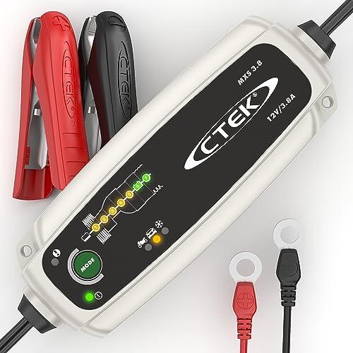 CTEK MXS 3.8 Chargeur de batterie entièrement automatique (Charge, maintient et reconditionne les batteries auto et ...