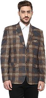 LUXURAZI Macro Checkered Tweed Single Breasted Blazer