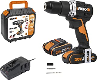 Sponsored Ad – WORX WX352 18V (20V MAX) 60Nm Brushless Motor Cordless Combi Hammer Drill with x2 2.0Ah Batteries