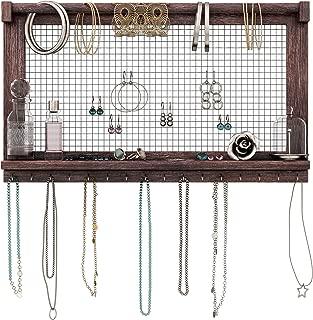 jewelry shelf with hooks