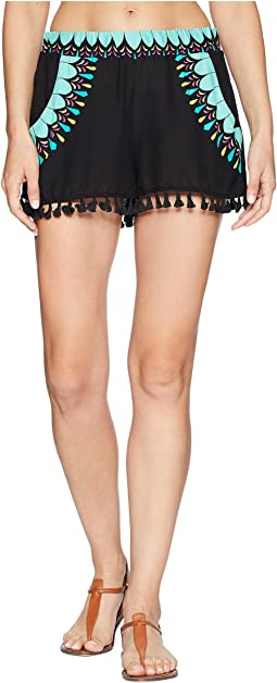 Trina Turk Sunburst Tassel Shorts Cover-Up
