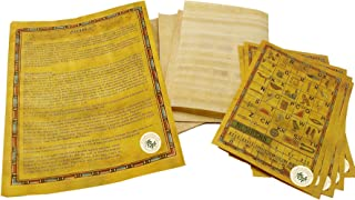 CraftsOfEgypt Set 10 Egyptian Papyrus Paper 4x6 inch (10x15 cm) - Ancient Alphabets Papyrus Sheets-Papyri for Art Project, Scrapbooking, and School History - Ideal Teaching Aid Scroll Paper