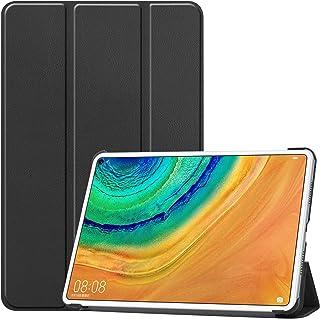NUPO HUAWEI MatePad Pro 10.8 ケース 超軽量 極薄 高級PU レザー 開閉式三つ折 スタンド スマートケース スタンド 機能 スマートカバー HUAWEI MatePad Pro 10.8 対応(ブラック)