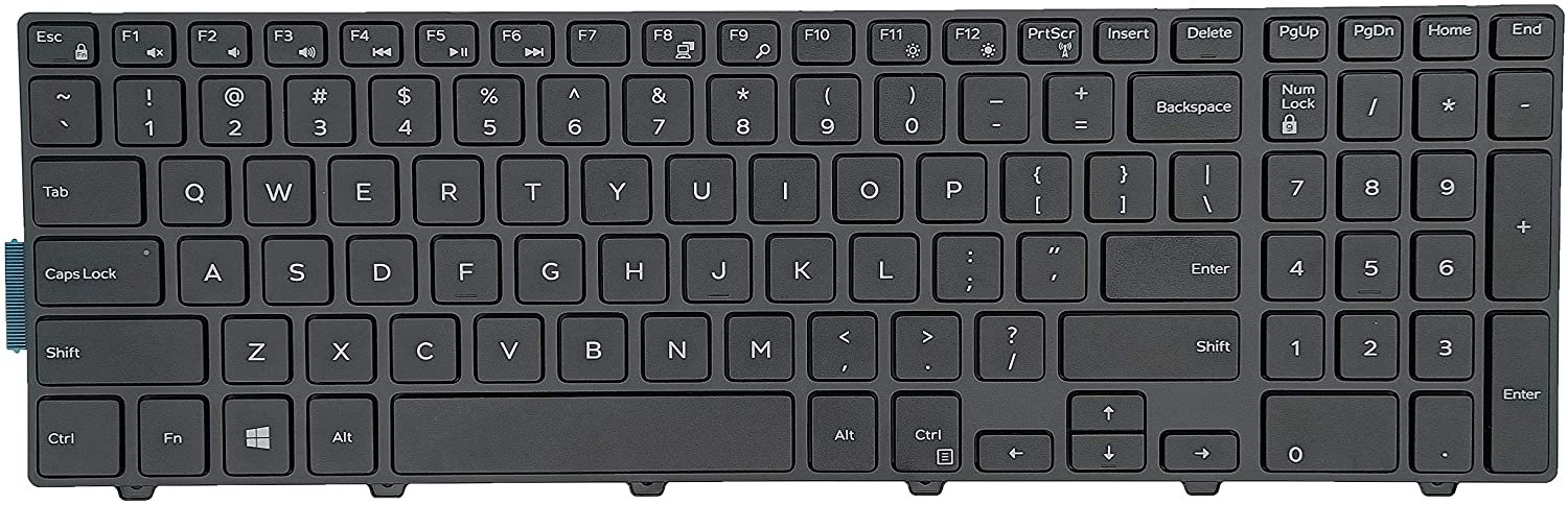 Keyboard Replacement for Dell inspiron 15 3000 5000 3541 3542 3543 3551 3552 3558 3593 3567 5542 5545 5547 5755 5551 5558 5552 5758 5759 5559, inspiron 17 5000 5748 5749 5755 5758 5759 Laptop
