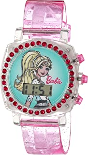 ساعة كوارتز للبنات من باربي، لون بنفسجي، 13 موديل BAB4010AZ)