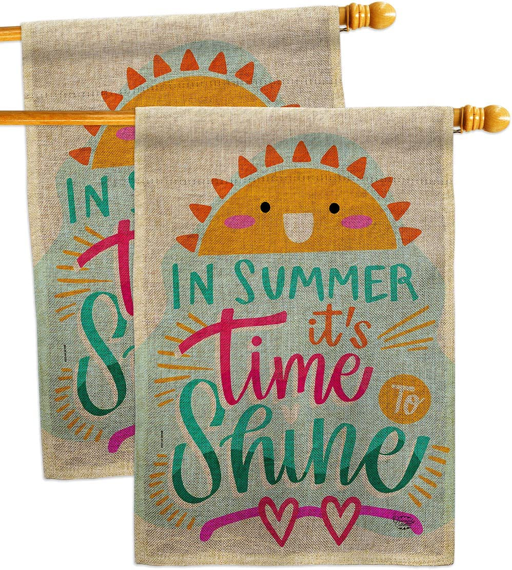 Time Boston Mall To Shine Burlap House Flag - 2 Pack The Fun S Excellent In Summer pcs