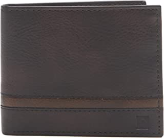 Men's RFID Security Blocking Extra Capacity Slimfold Wallet, brown, One Size