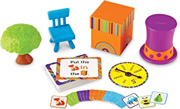 Learning Resources Fox in The Box Position Word Activity Set, Phonics Game, Preschool, 65 Piece Set, Ages 3+