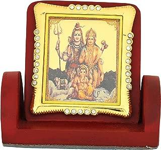 Leganza Shiv Parivar Idol Showpiece for Home Office - Multicolour with Brown Base