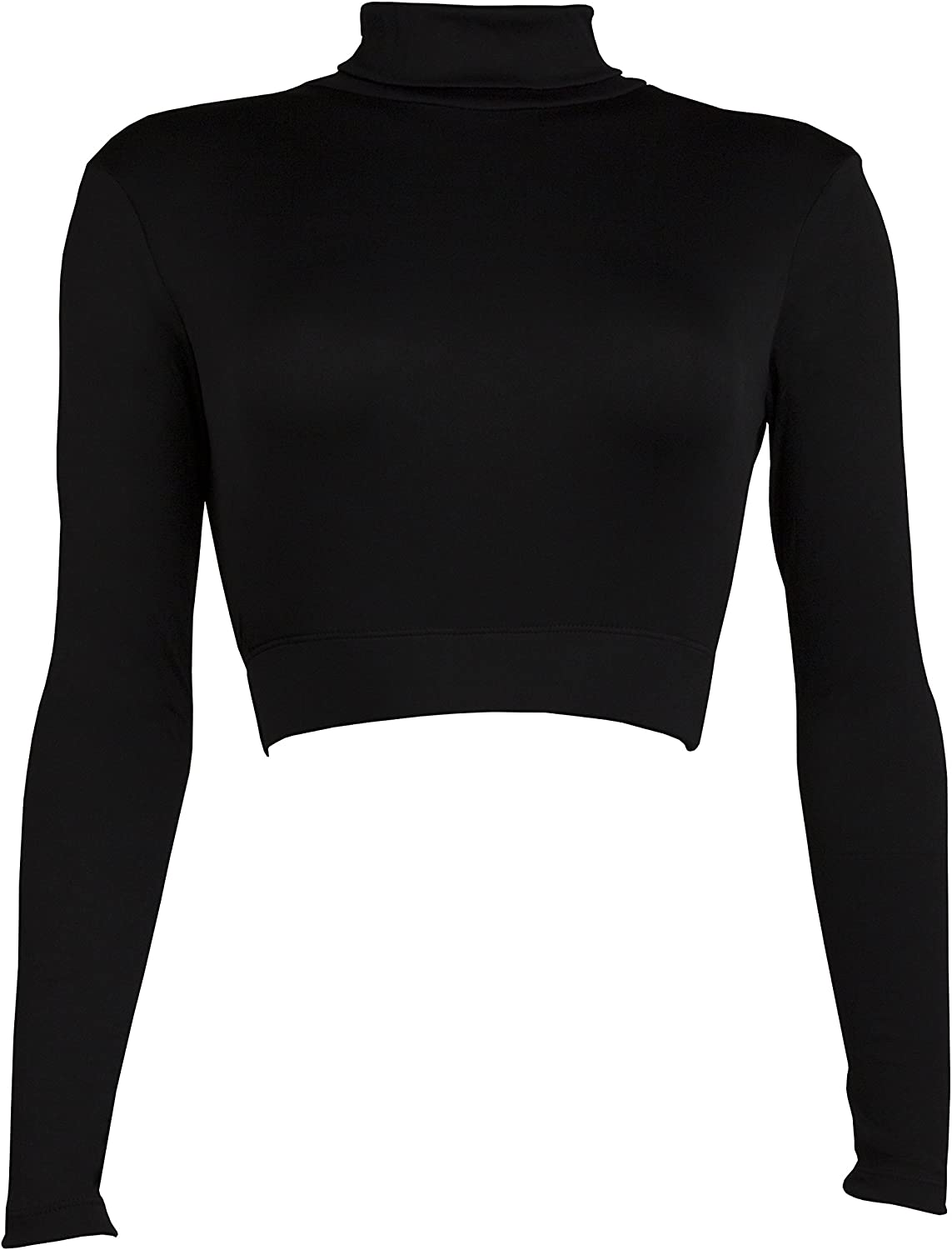 Cheer Fantastic Turtleneck Midriff Size XLarge Black