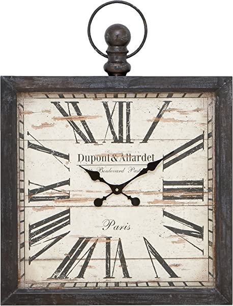 Deco 79 Metal Wall Clock 32 By 24 Inch