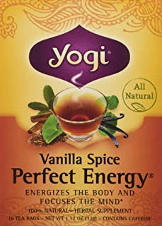Yogi Tea Vanilla Spice Perfect Energy Tea Bags - 16 ct