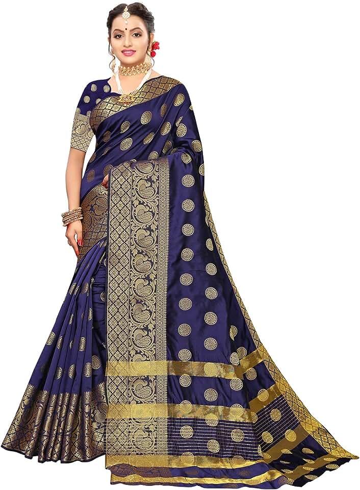 Indian Satrani Silk Saree with Blouse Piece Saree