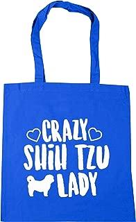 10 litres Crazy chihuahua lady dog Tote Shopping Gym Beach Bag 42cm x38cm