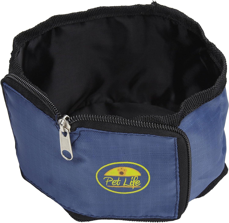 Pet Life S1BL bluee Wallet Travel Pet Bowl