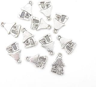 Earring Pendant 15*22MM Fashion Charm Enamel Charms Ghost House Charm Bracelet Charm 10PCS Jewelry Finding