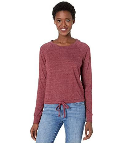 Alternative Cinched Waist Slouchy Sweatshirt (Eco True Currant) Women