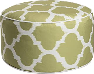 Art Leon Outdoor Inflatable Ottoman Grass Green Round Patio Footstool for Kids and Adults, Patio, Deck, Front Porch, Backyard, Garden