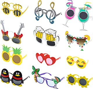 Upper Midland Products 12 PK Party Glasses Crazy Fun Funny Sunglasses Novelty Photobooth Props Accessories