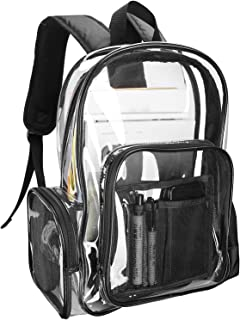Procase Clear Backpack for Women Girl, Waterproof Transparent Plastic Bag Festival Bag, for Concert Conventions Beach Gym School Work –Clear