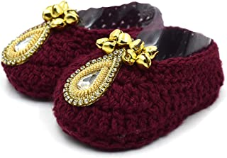 Magic Needles Handmade Knit Crochet Baby Booties Uggs Crib Shoes Newborn Socks Soft Sole Prewalker Mojaris