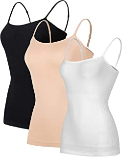 Women Camisoles Tank Top Basic Casual Soild Color Silmming Vest Underwear.JNINTH