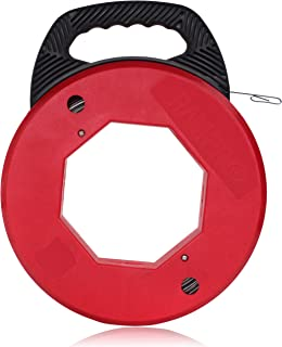 Vanitek 200 Foot Reach, Spring-Steel Fish Tape Reel, with High Impact Case, for Electric or Communication Wire Puller