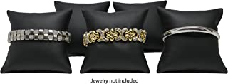 Novel Box Black Leatherette Bracelet Watch Jewelry Decoration Pillow (Pack of 5) 3X3