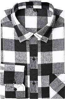 Best men's buffalo plaid shirt black and white Reviews
