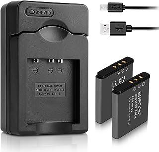 ENEGON Sostituzione della batteria (2-Pacchi) e caricabatterie per Fujifilm NP-50 BC-45W BC-50 e Fuji FinePix F60fd F50FD ...