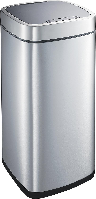 Eko Phantom Capteur Poubelle M/étal INOX 25 x 37,5 x 62,4 cm 30 litres
